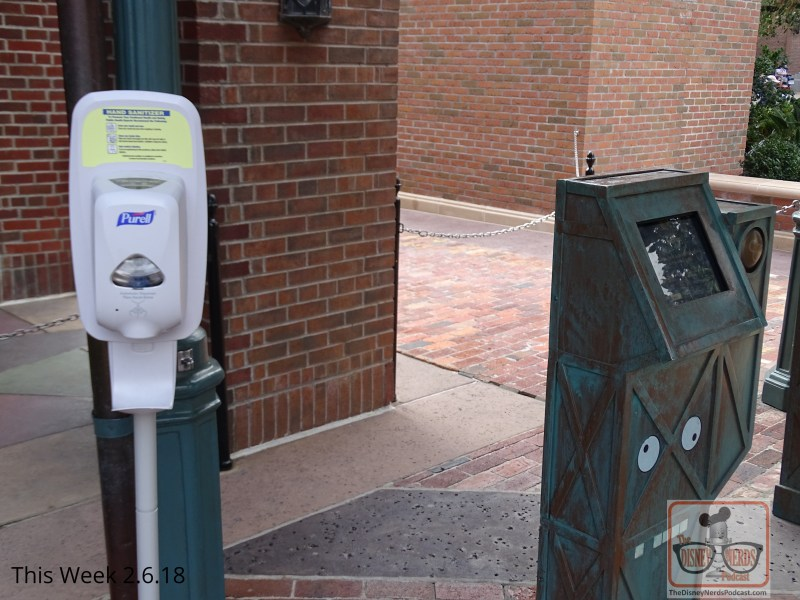 While it is an active flu season for most of the nation, Disney is doing their part to help guests stay healthy. Help yourself to a squirt or two of hand sanitizing solution throughout the day from convenient dispensers available at all fastpass+ locations.