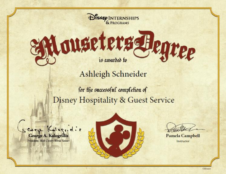 Disney College Program classes