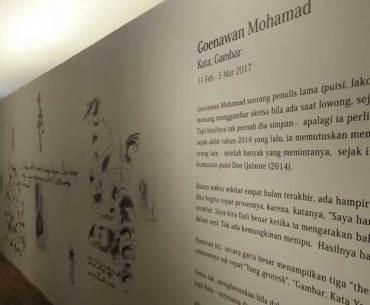 Goenawan Mohamad Kata, Gambar Exhibition