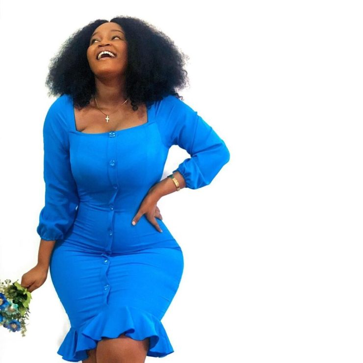 Cyril's Curvy Baby Mama Set The Internet Ablaze With Jaw Breaking Post Delivery Photos. 13