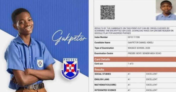 Gakpetor Daniel Kekeli; PRESEC's NSMQ 2020 Star Scores 8A's In WASSCE 2020. 4