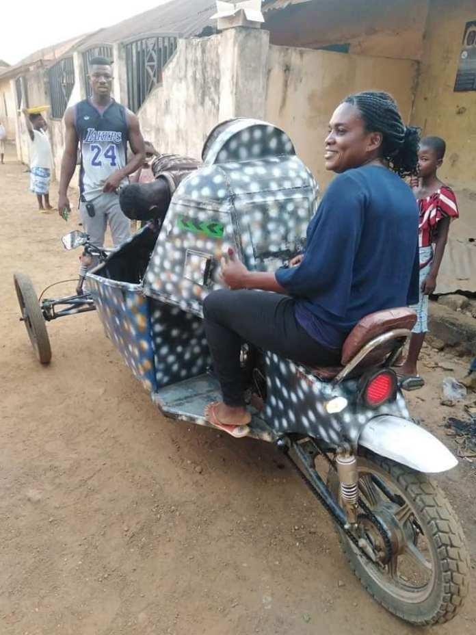 Jasikan in Oti Region Tricycle inventor