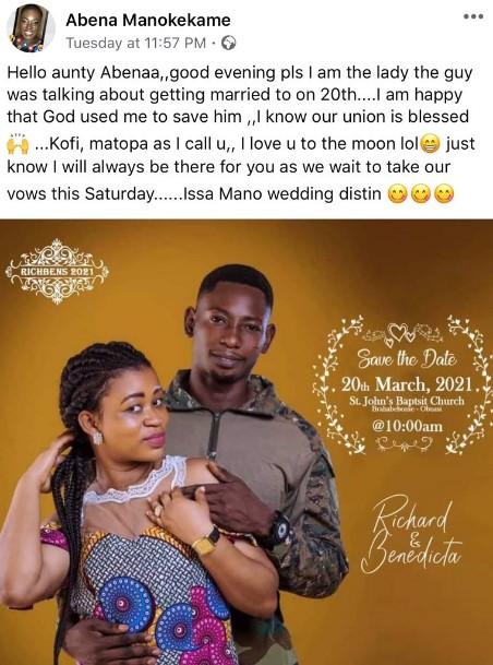 Genesis Of The Obuasi Wedding Saga Agu Richard And His Wife Benedicta And Comfort Bliss   Photos + Videos