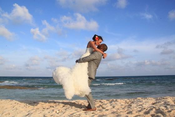 Bride + Groom on the Beach