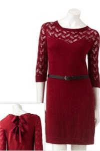 LC Lauren Conrad Pointelle Sweaterdress