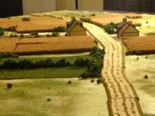 Got th e newly made roads and fields on the table.