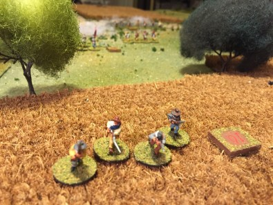 The survivors flee from the field.