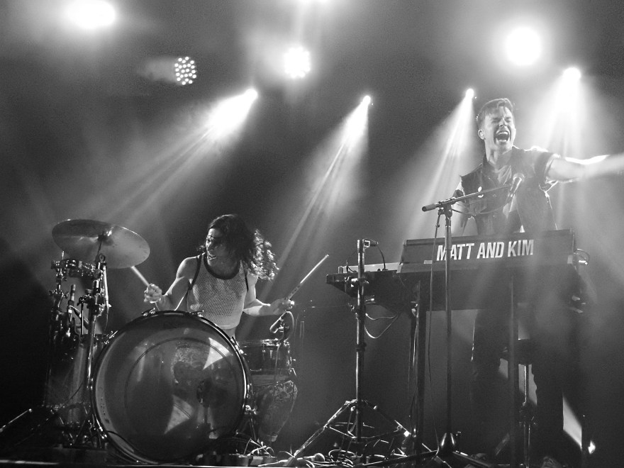 Musical collaboration in action--Matt and Kim play a live show