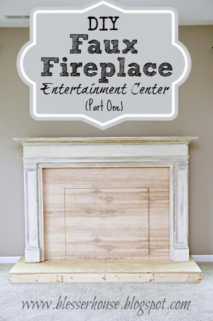 DIY Faux Fireplace Entertainment Center - Part 1