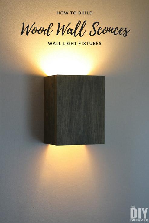 how to build wall light fixtures diy