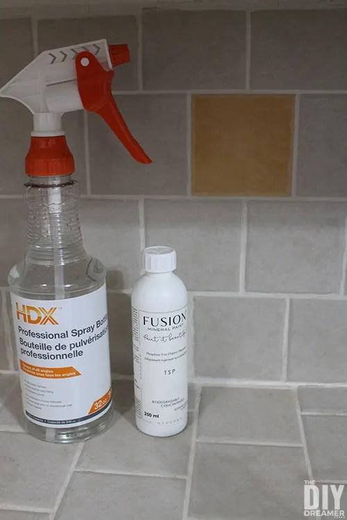 how to paint tile backsplash the diy