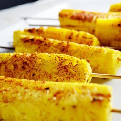 Cinnamon Grilled Pineapple