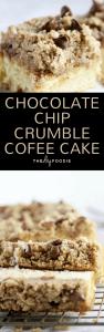 Chocolate Chip Crumble Coffee Cake (long)