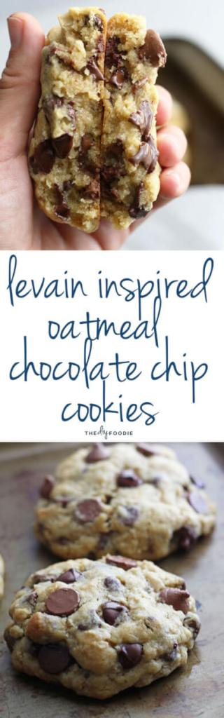 Delicious Giant Oatmeal Chocolate Chip Cookies