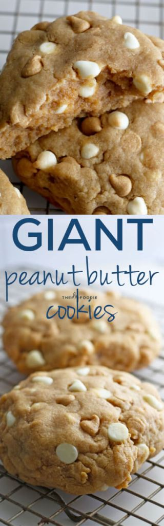 These giant peanut butter cookies are amazing!!