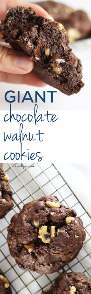 Amazing triple chocolate walnut cookies!!