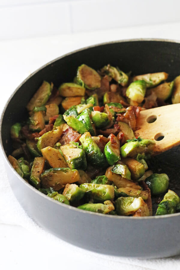 Delicious Bacon Brussel Sprouts!