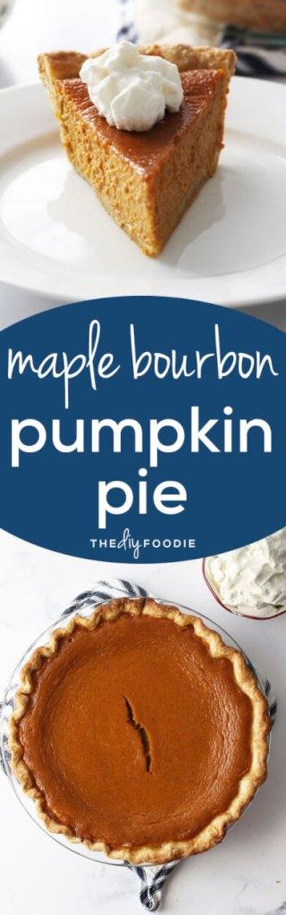 The BEST pumpkin pie! The maple bourbon flavor is amazing.