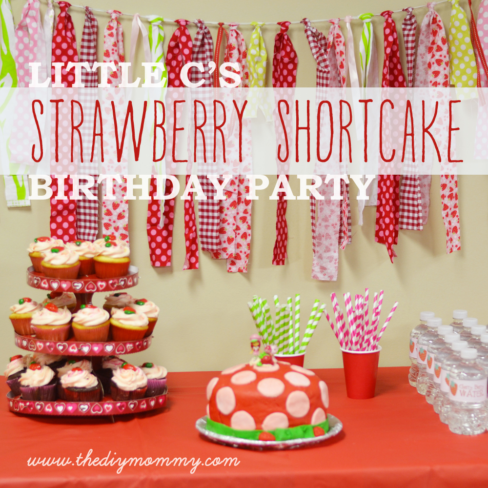 Little C S Strawberry Shortcake Birthday Party Free Water Bottle Treat Bag Printables The Diy Mommy