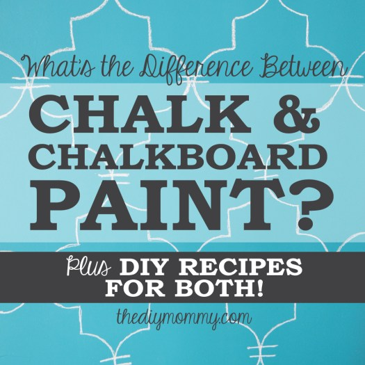 What S The Difference Between Chalk And Chalkboard Paint Here An Explanation Plus Diy Recipes To