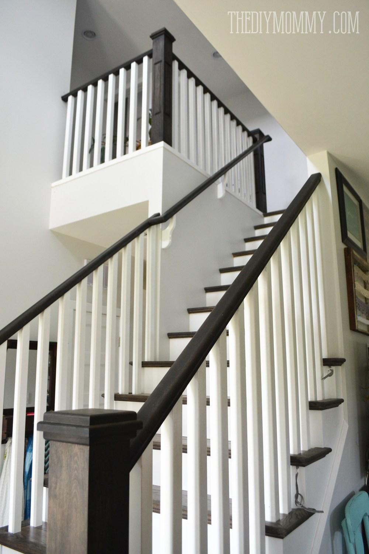 Our Diy House 2014 Home Tour | White Oak Stair Railing