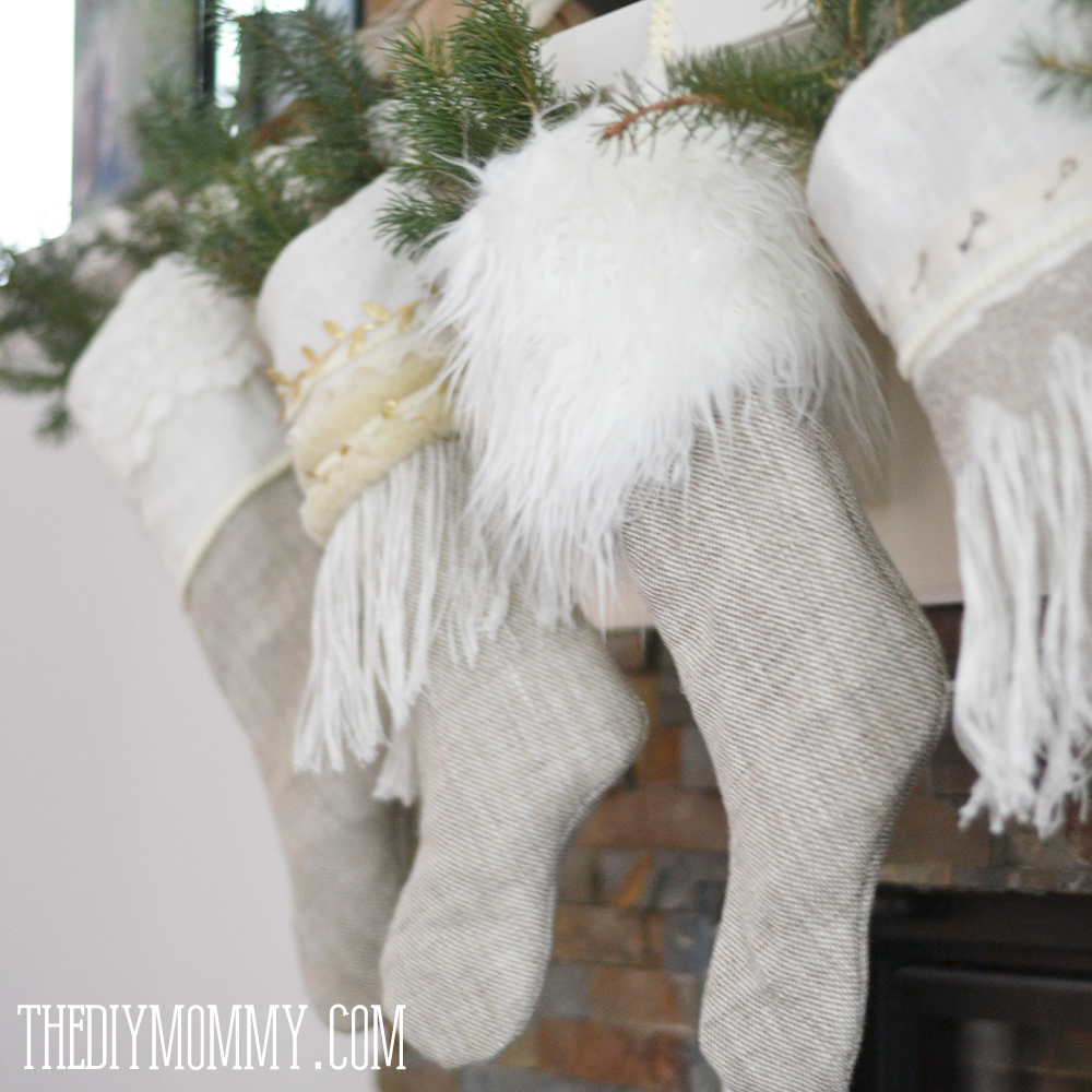 Sew Linen Burlap Christmas Stockings Anthropologie