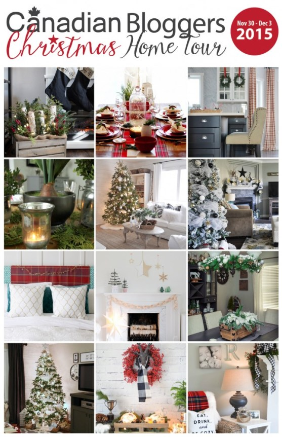 Beautiful Christmas home tours & holiday decor ideas from Canadian bloggers