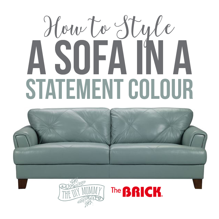 How To Style A Sofa In A Statement Colour For Spring Video The Diy Mommy