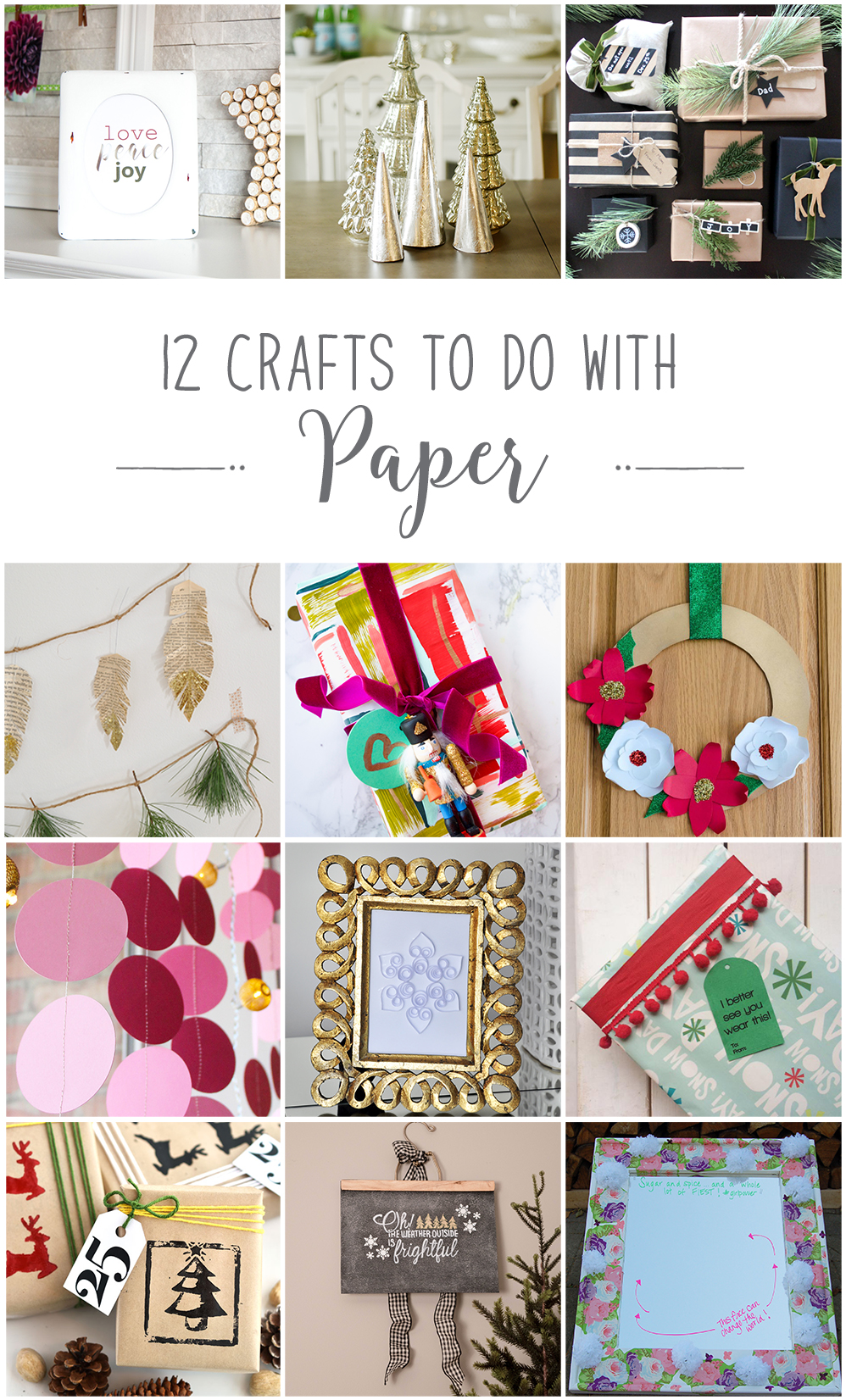 Holiday Christmas paper craft ideas