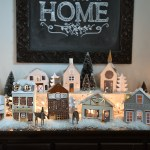 Our Diy 15 Paper Christmas Village The Diy Mommy