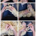 How To Make An Arm Knit Blanket With A Fringe Video 12monthsofdiy The Diy Mommy