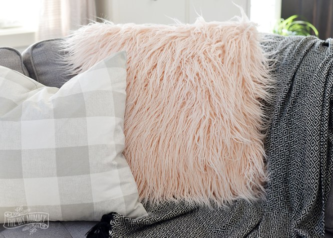 How To Sew A Faux Fur Pillow Cover Video