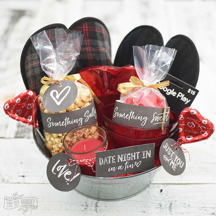 Valentines Day Date Night In Gift Basket Idea 24 More