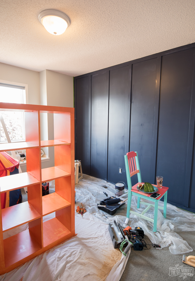 A Modern Navy Amp Orange Nautical Kids Room Makeover