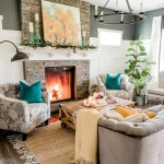 Our Cozy Fall Living Room With Simple Mantel Decor The Diy