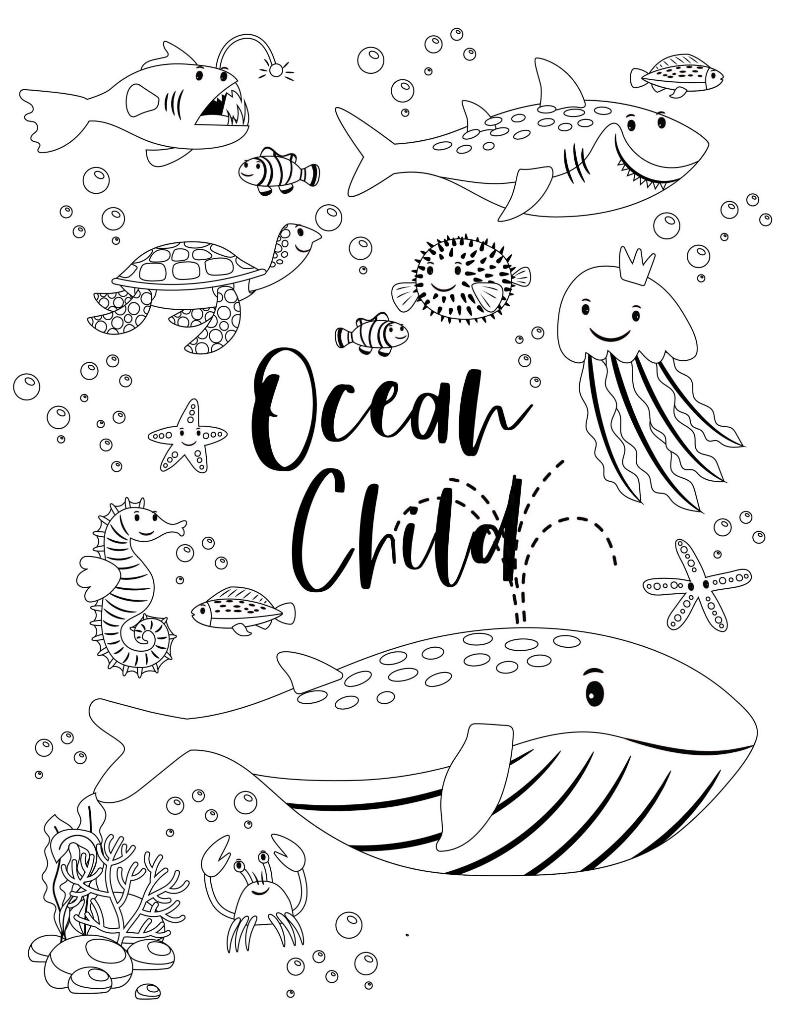 Free Ocean Activity Pack Printable For Kids