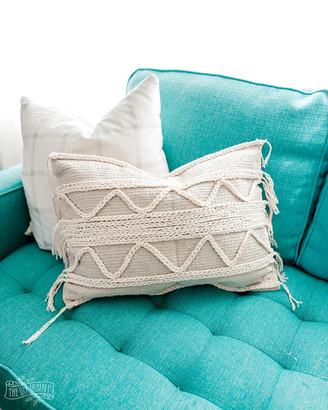make a diy boho throw pillow from