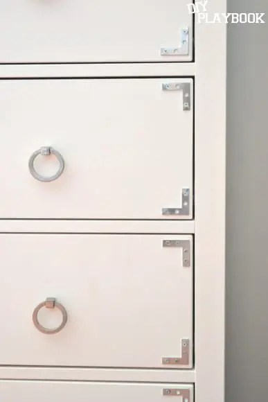 corner brackets on drawer front. Ikea Hemnes Dresser  Hack   DIY Playbook