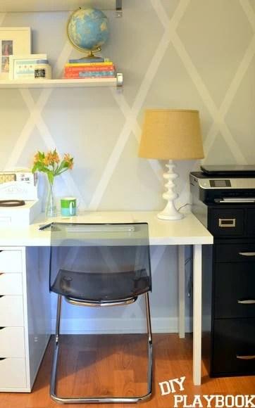 Ikea desk area