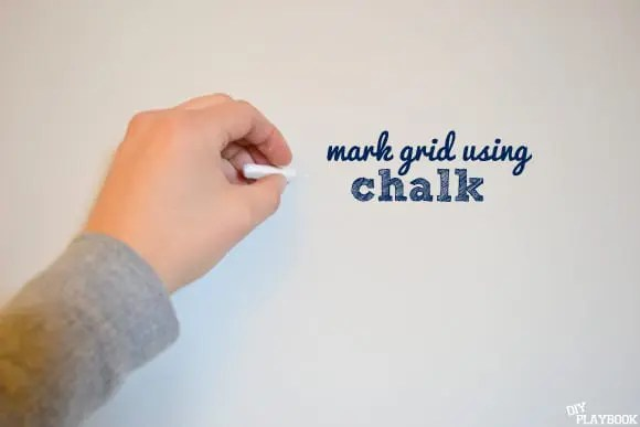 Mark grid using chalk