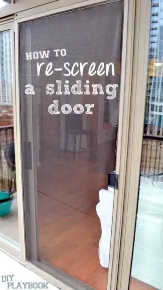 how to re screen a sliding door step