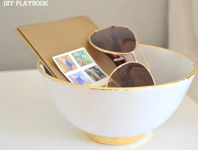 Gold-Leafing-A-White-Bowl