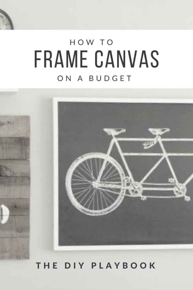 How to Frame Canvas on a Budget