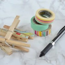 Clothes-pins-Washi-Tape