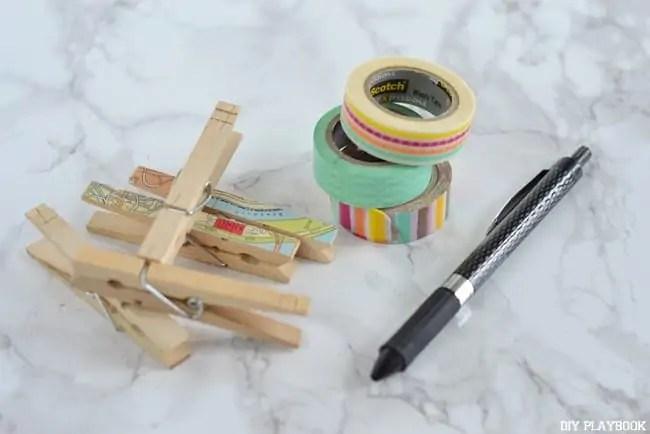 Clothes-pins-Washi-Tape