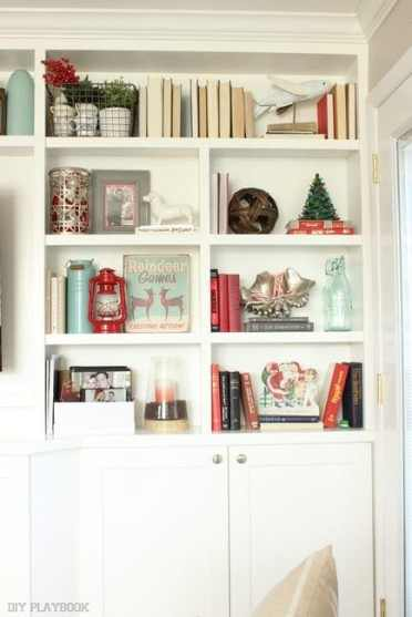 christmas shelves