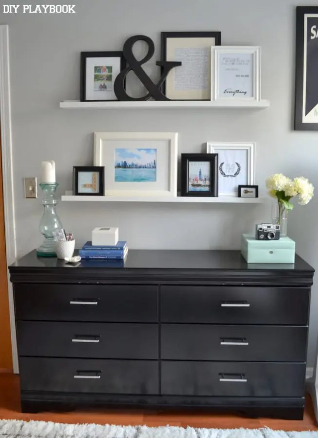 Bedroom-Dresser-Picture-Ledges