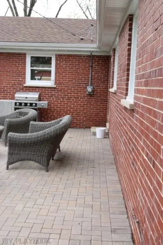 meter before patio landscaping flower box