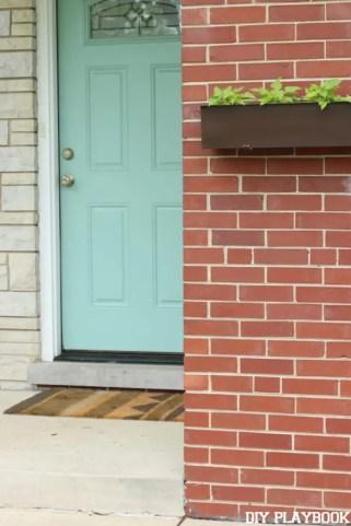 flower box before door