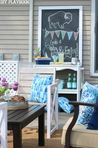 Patio Reveal chalkboard